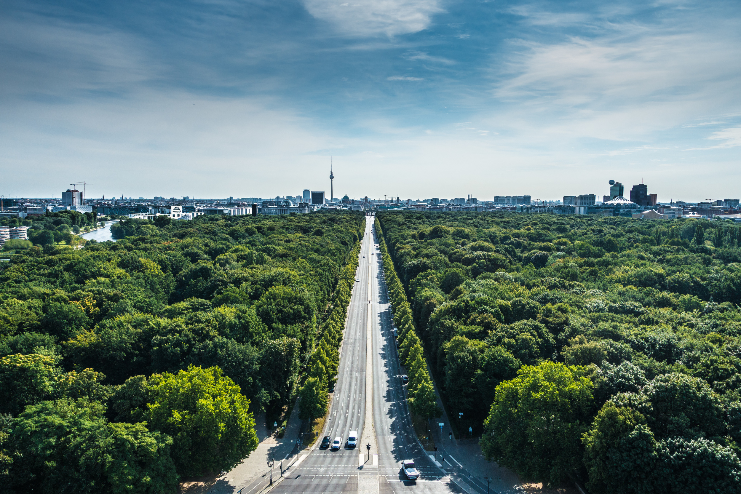 View of Berlin from Tiergarten, close to where Amy and Ethan rented an apartment
