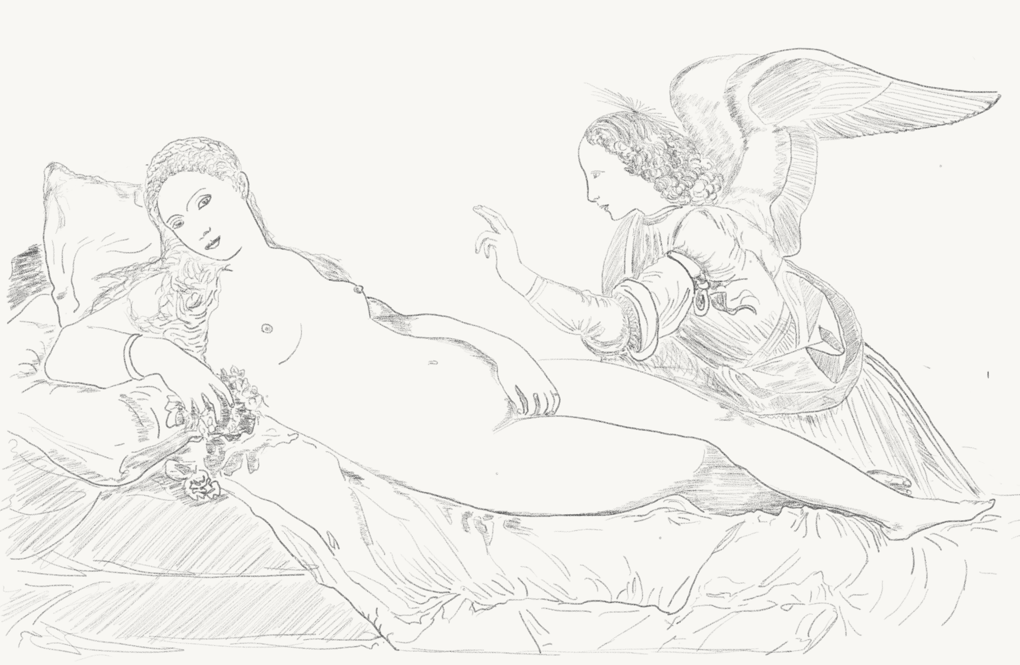 Gabriel and Venus of Urbino