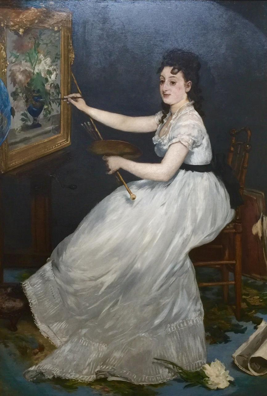 """Eva Gonzales"" by Manet  in the Hugh Lane Gallery"