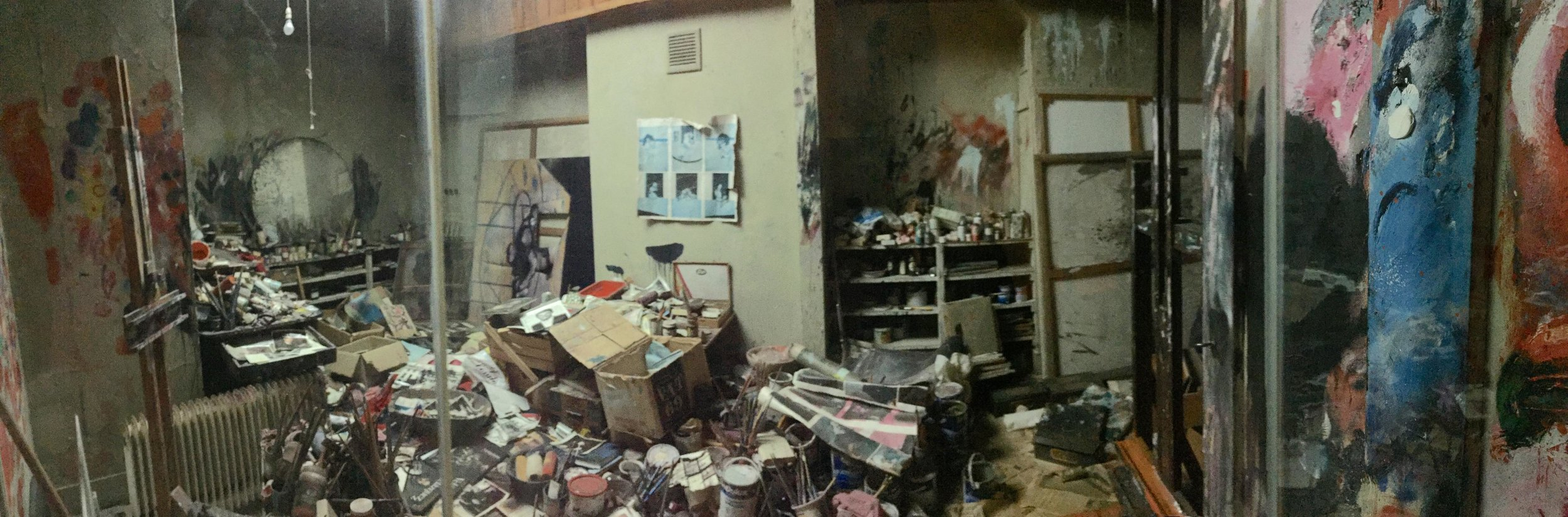 The chaos of Francis Bacon's studio  in the Hugh Lane Gallery