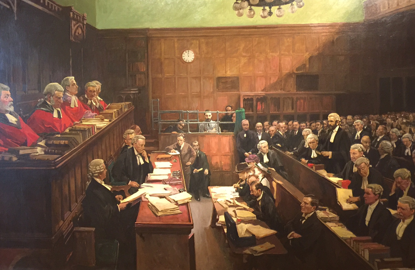 The Trial of Roger Casement by Sir John Lavery in the Hugh Lane Gallery
