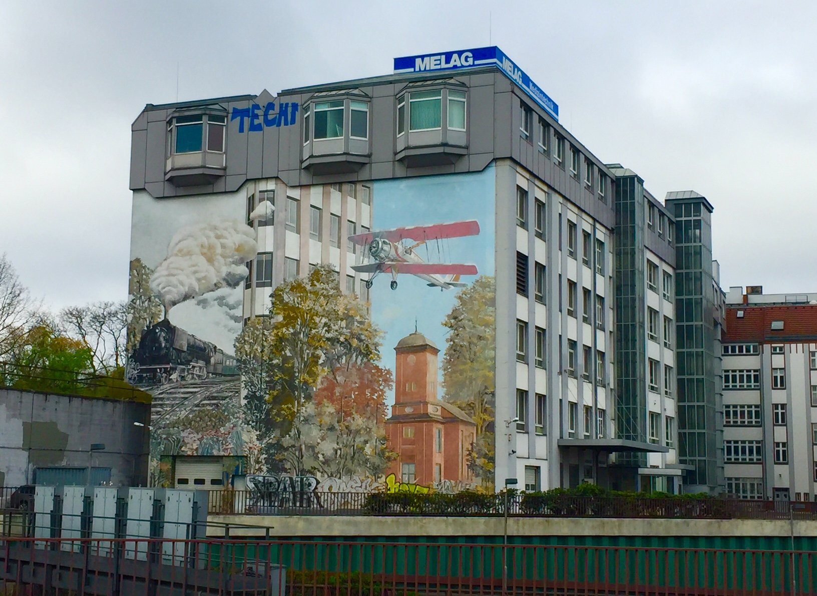 Murals on the side of apartment blocks everywhere