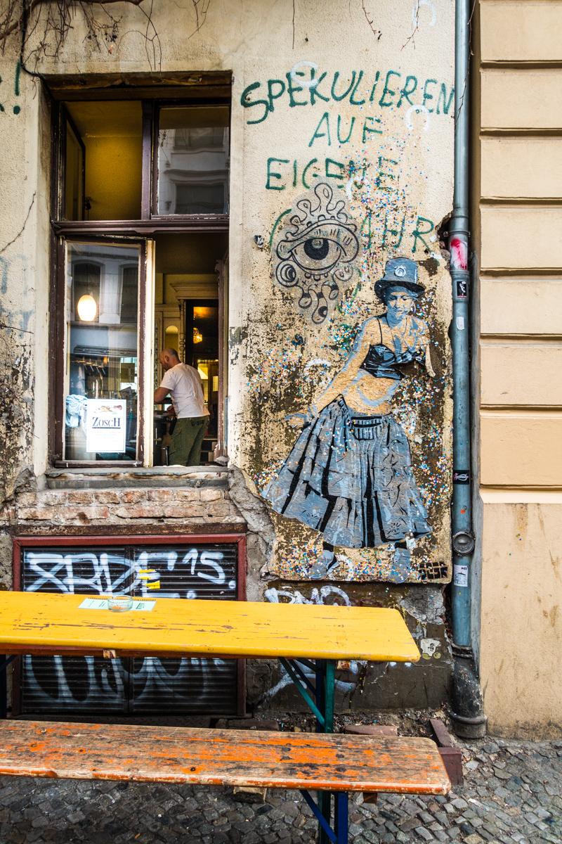 Mural on restaurant