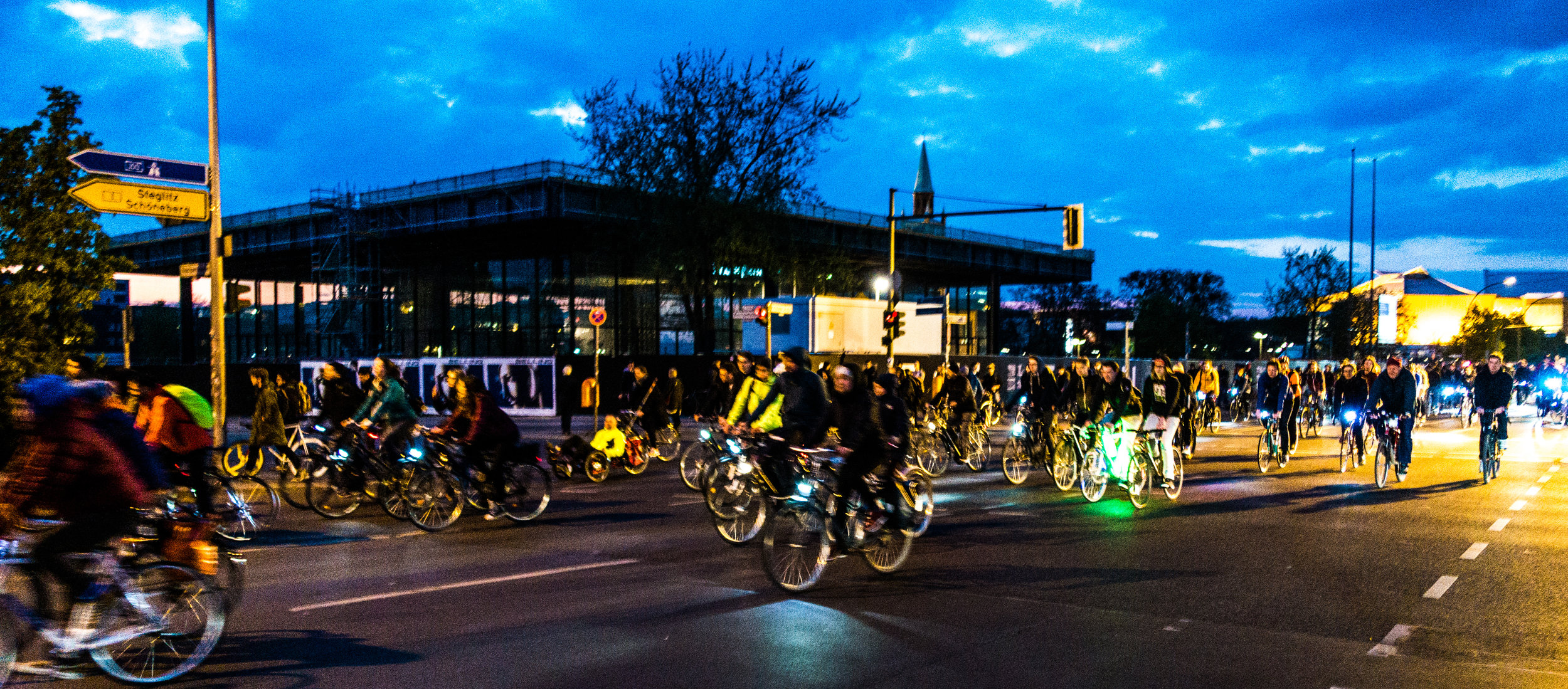 Critical Mass cycle reclaim the streets demonstration