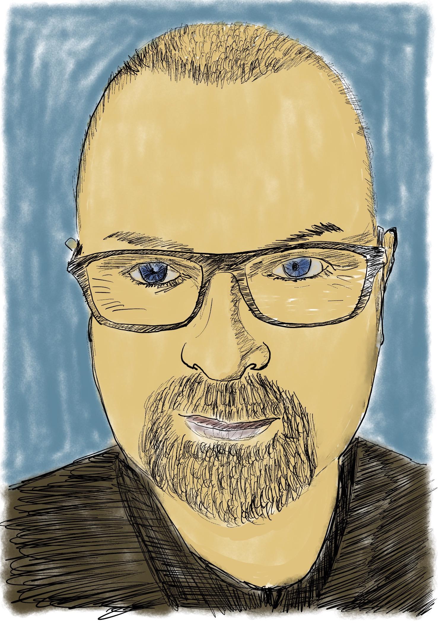 Comic book selfie drawing