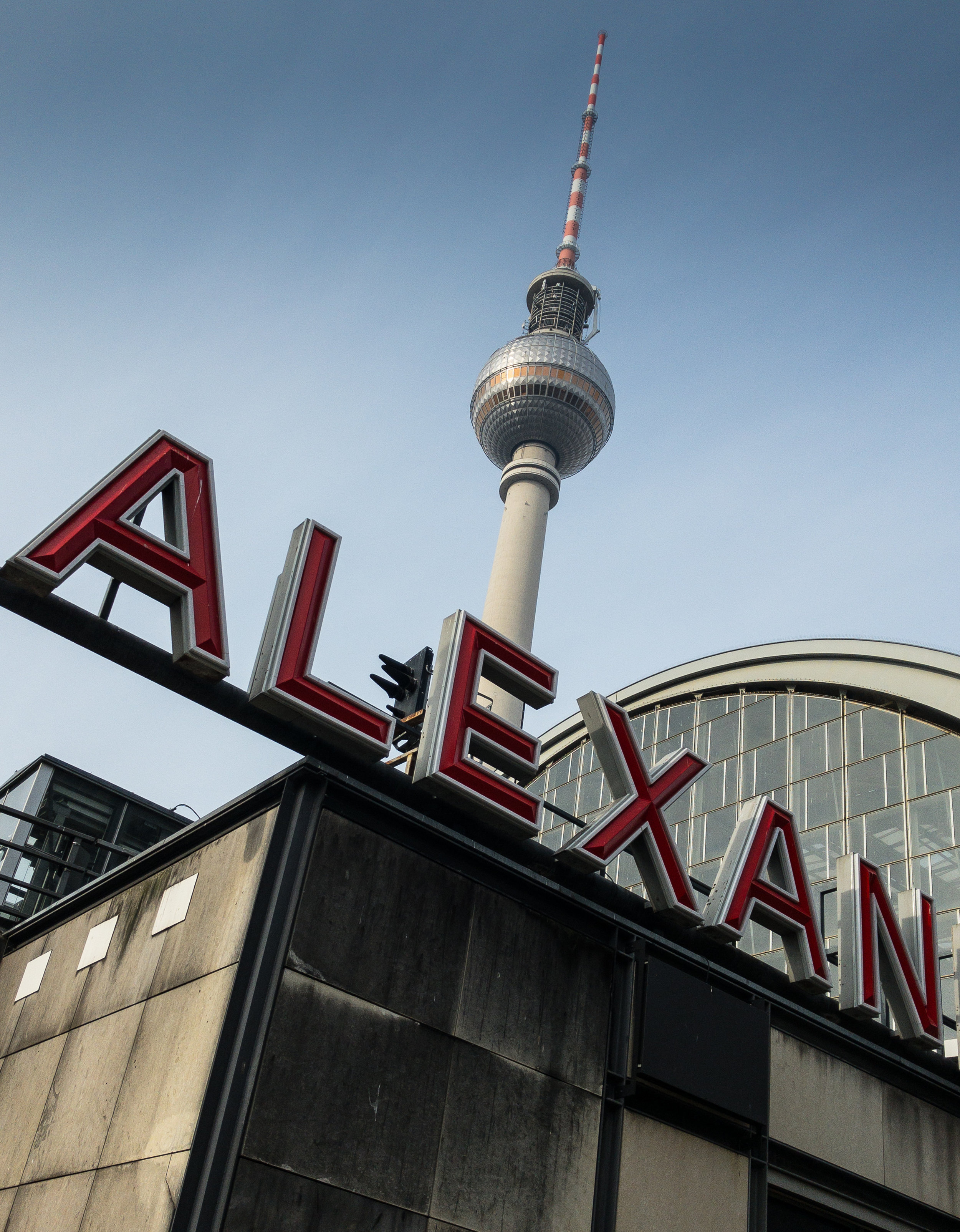 Alexanderplatz, my first stop coming from the airport