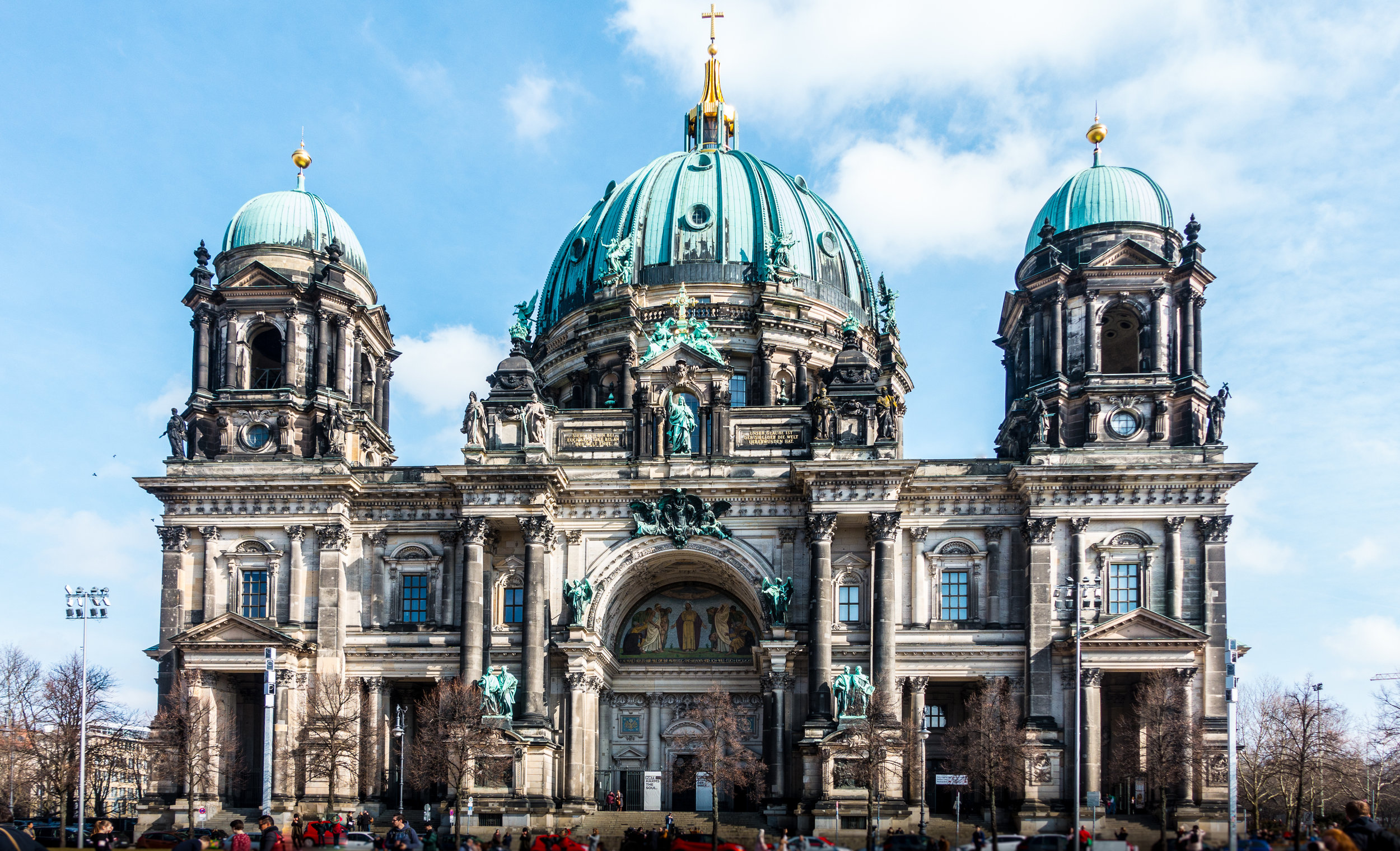 Berlin Cathedral (Berliner Dom) built in 1905 in a neoclassical style and it looks older than it is.