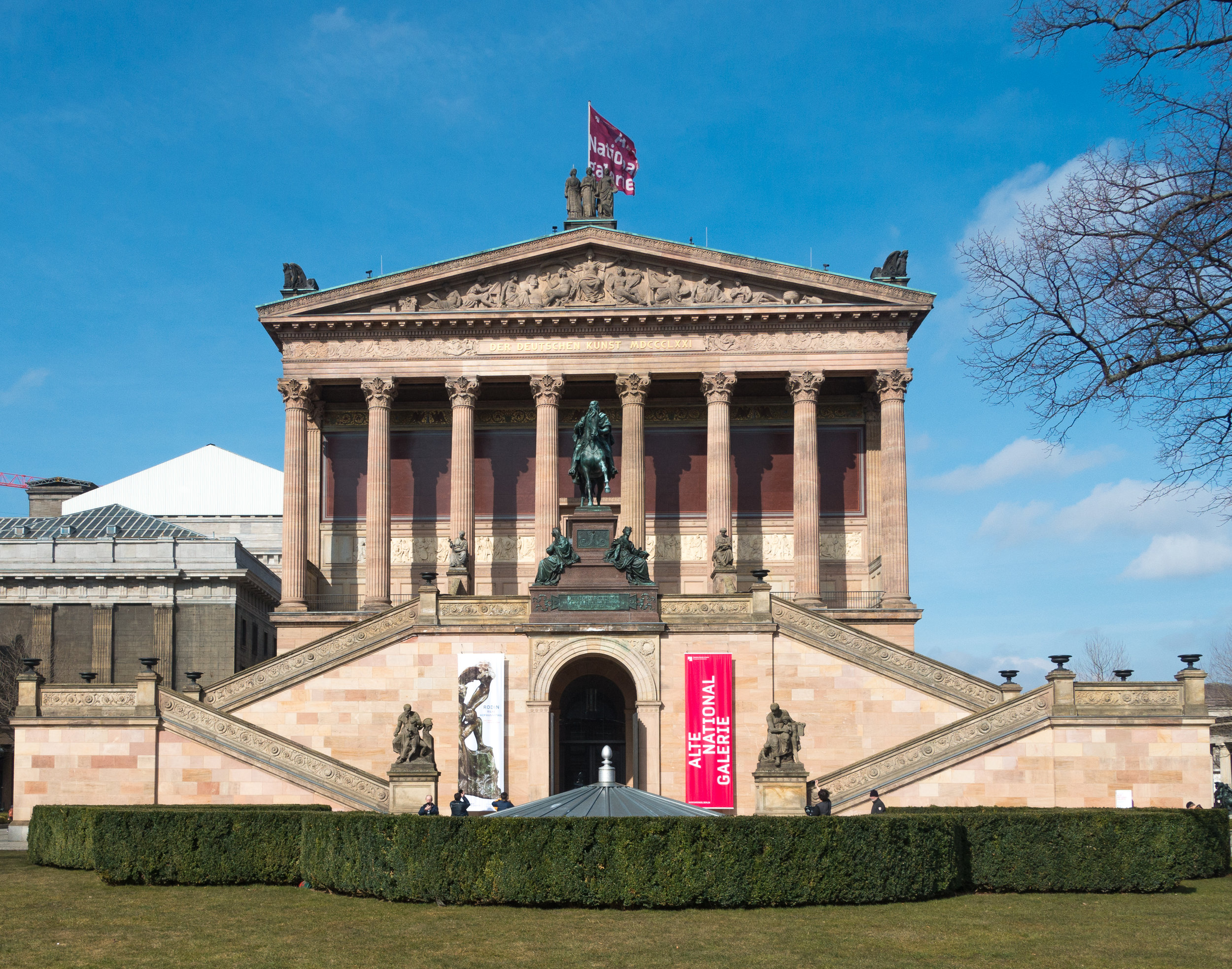 Alte Nationalgalerie - houses neoclassical and romantic art and also impressionists and some modernists works.