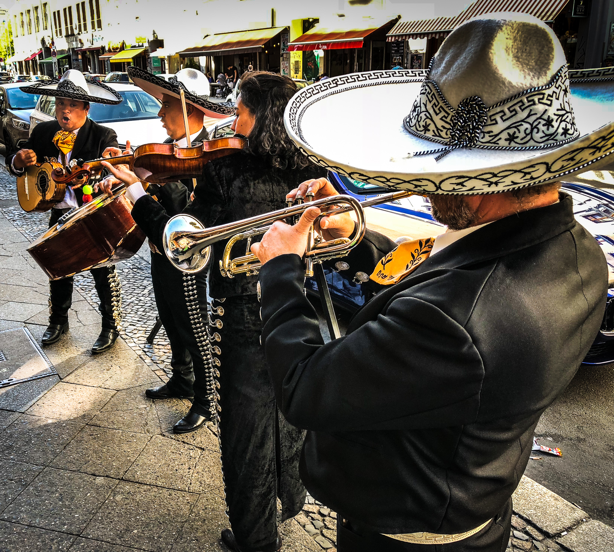 Mexican band playing on the street in Kreuzberg
