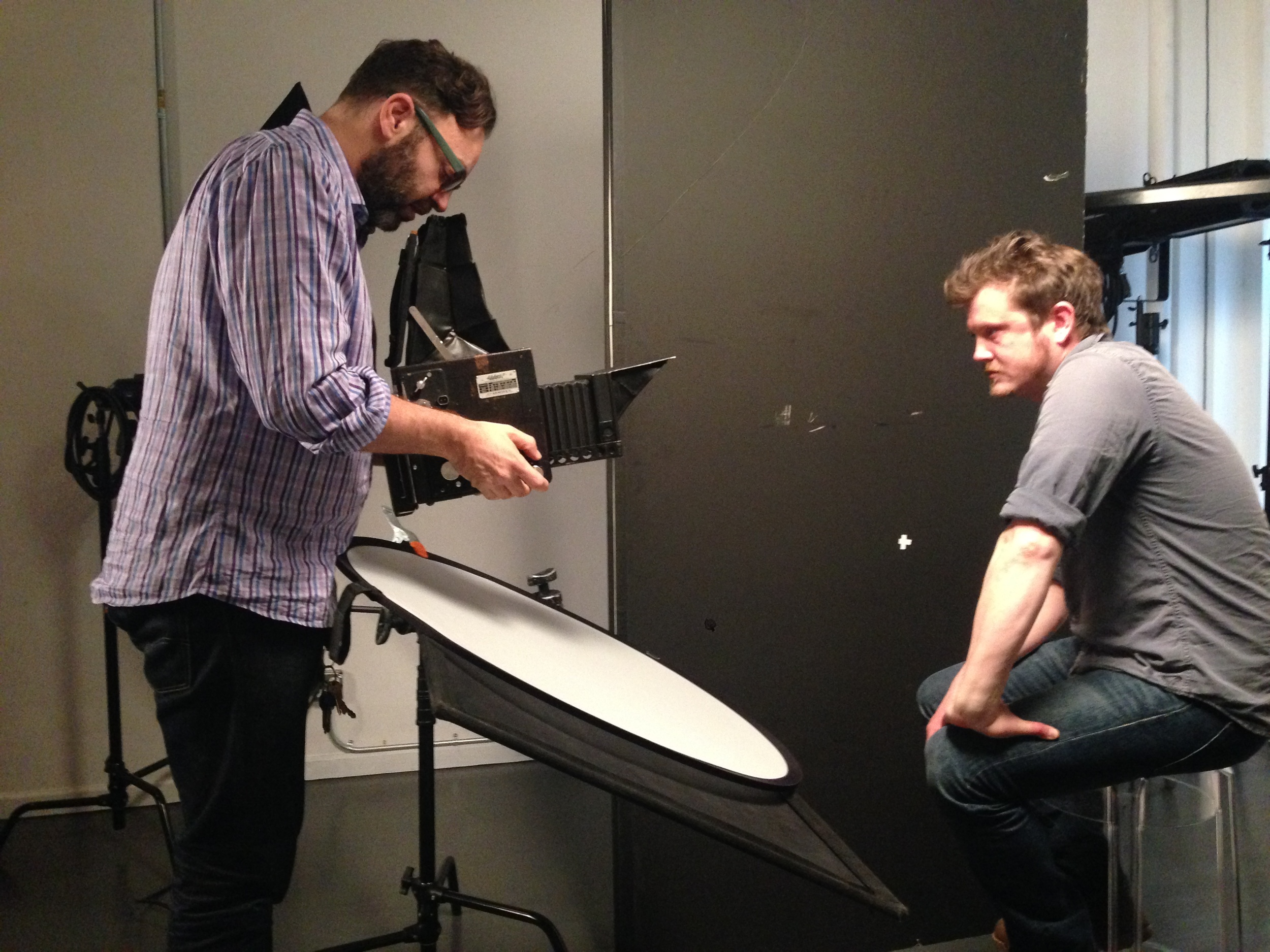 Mark and Graflex with House of Card's show runner Beau Willimon