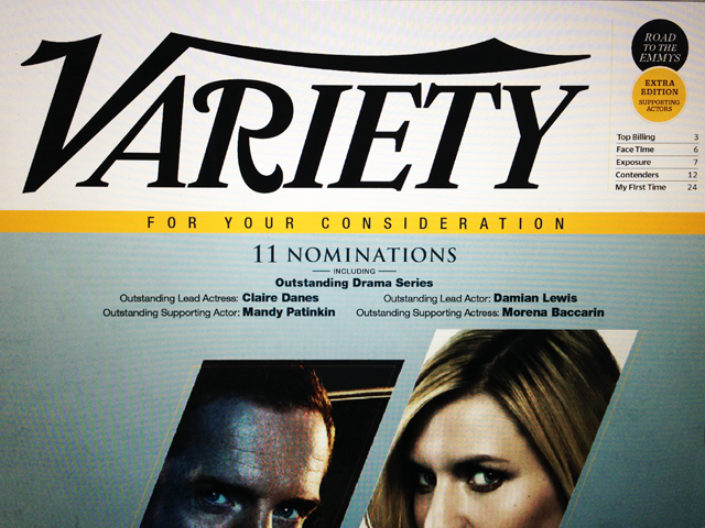 The final cover sketch for the daily editions. Editorial space was carved out above the advertising and to the right of the logo to clearly label the edition, tease the content inside and differentiate between the weekly magazine.