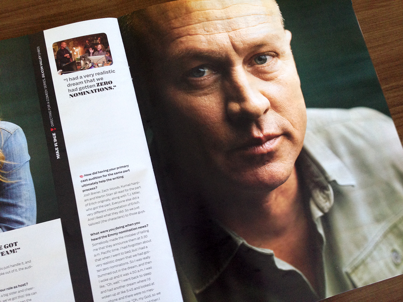 Mike Judge (Silicon Valley) photographed by J.R. Mankoff