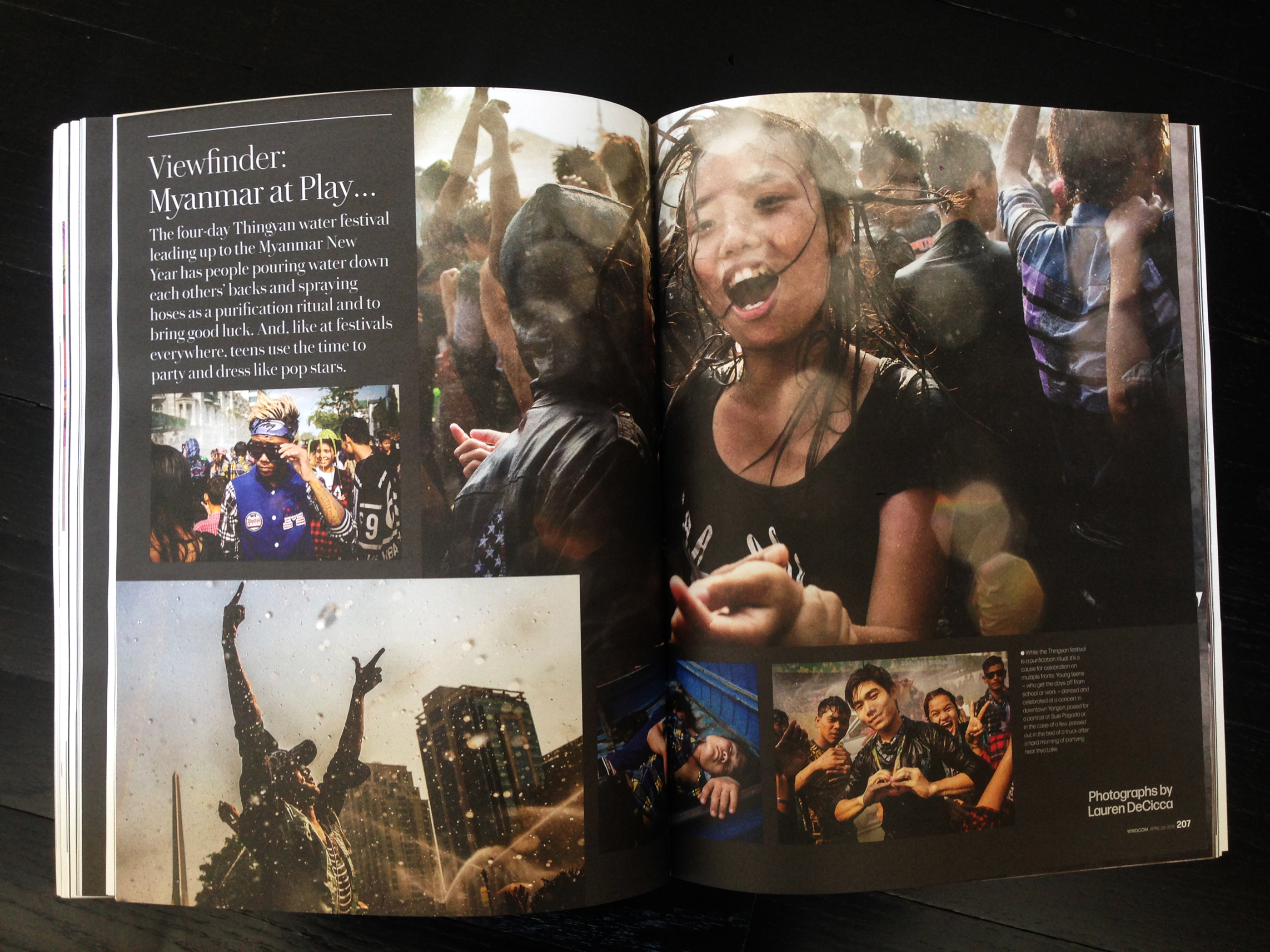 First spread of Viewfinder, aweekly photo essay.