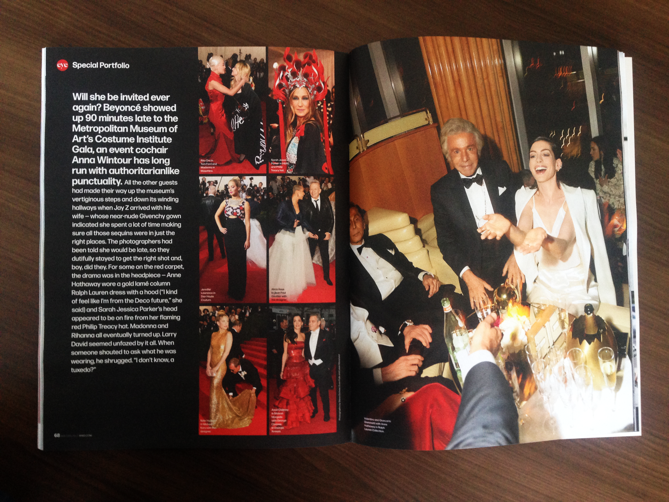 Second spread of the Met Gala package