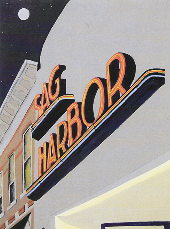"Barbara Hadden,  Sag Harbor Cinema , oil on canvas, 24 x 18"""