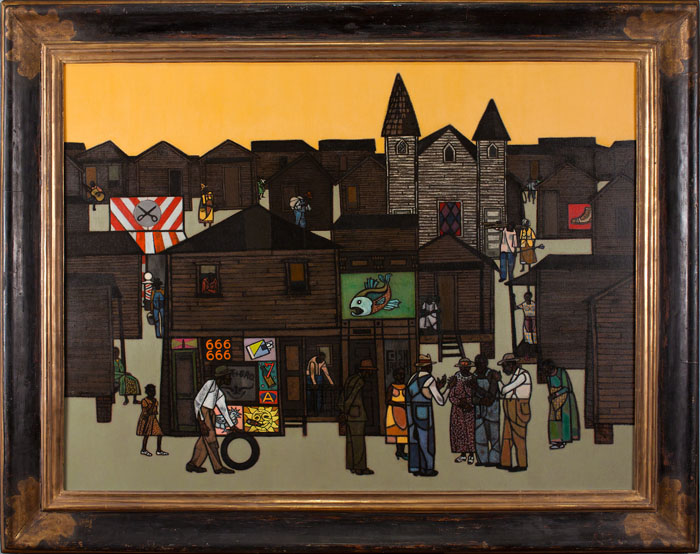 Robert Gwathmey,  The Gathering, c. 1959,  oil on canvas, 36 x 48 inches