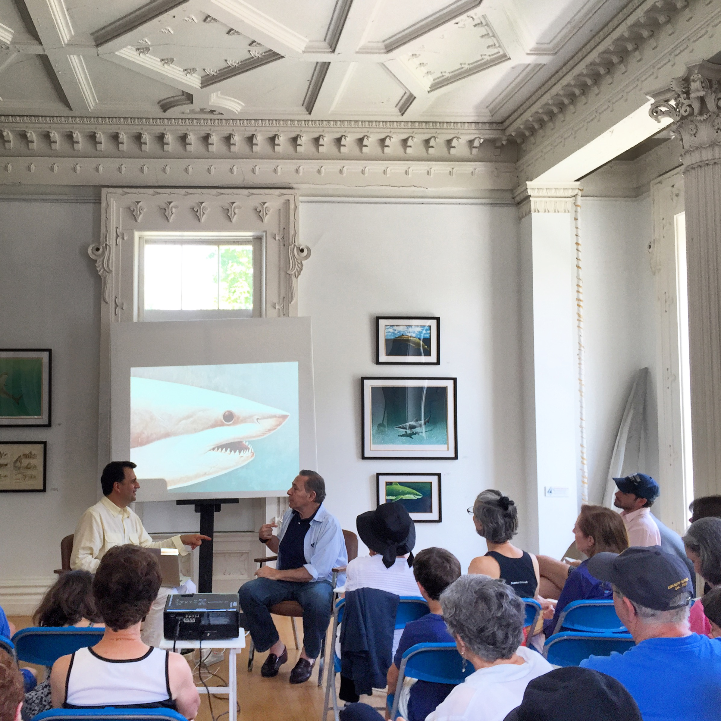 """Richard Ellis lecture, """"Adventures of a Shark Painter."""""""