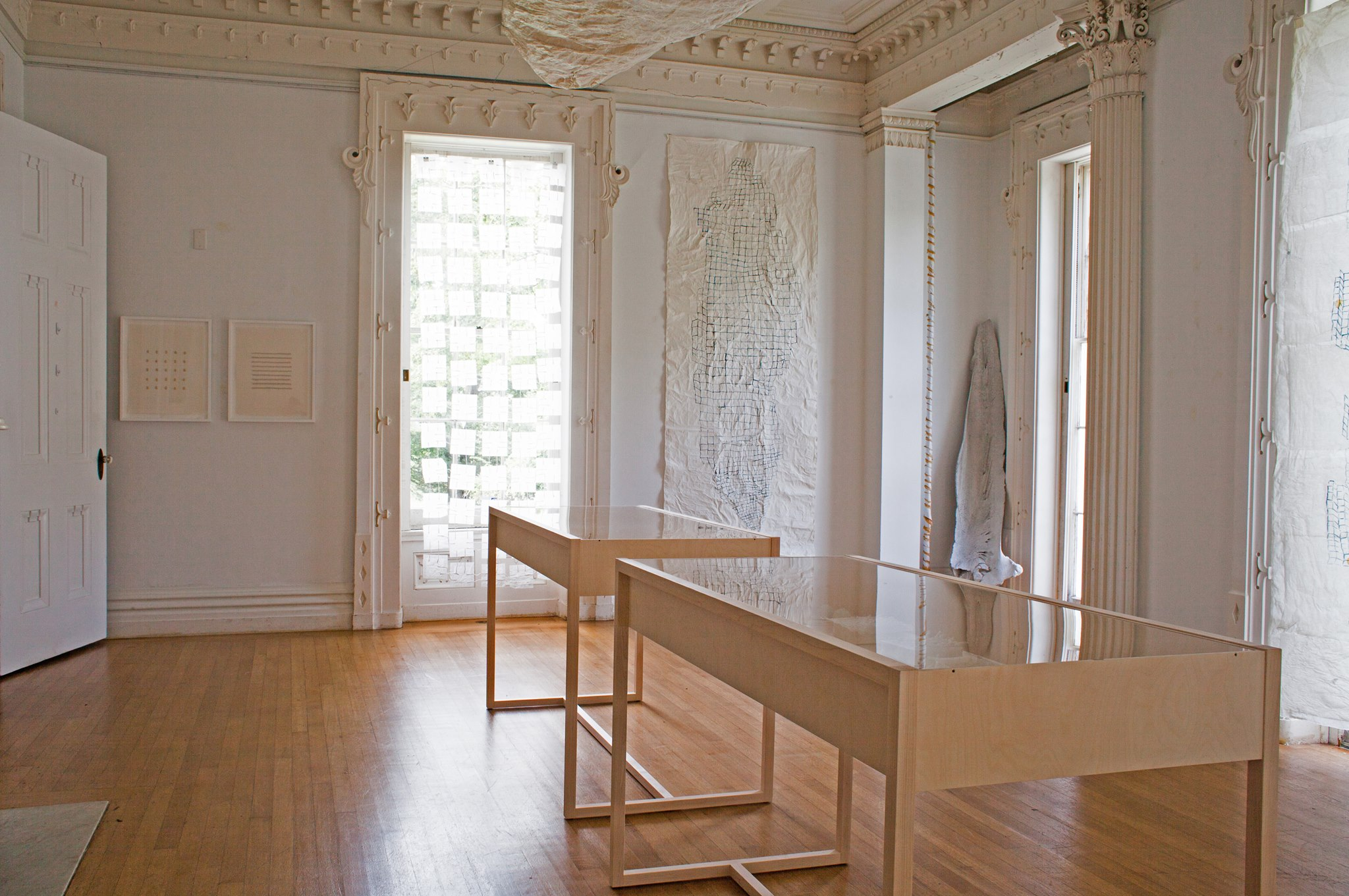 """installation view of """"Archeology of Time"""", courtesy of the artist."""