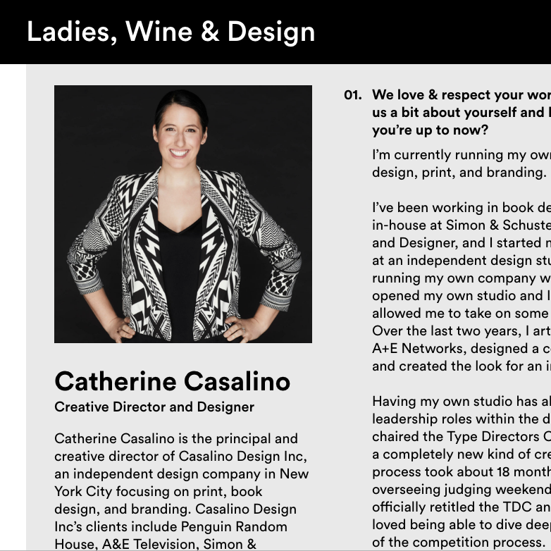 Interview with Ladies, Wine & Design