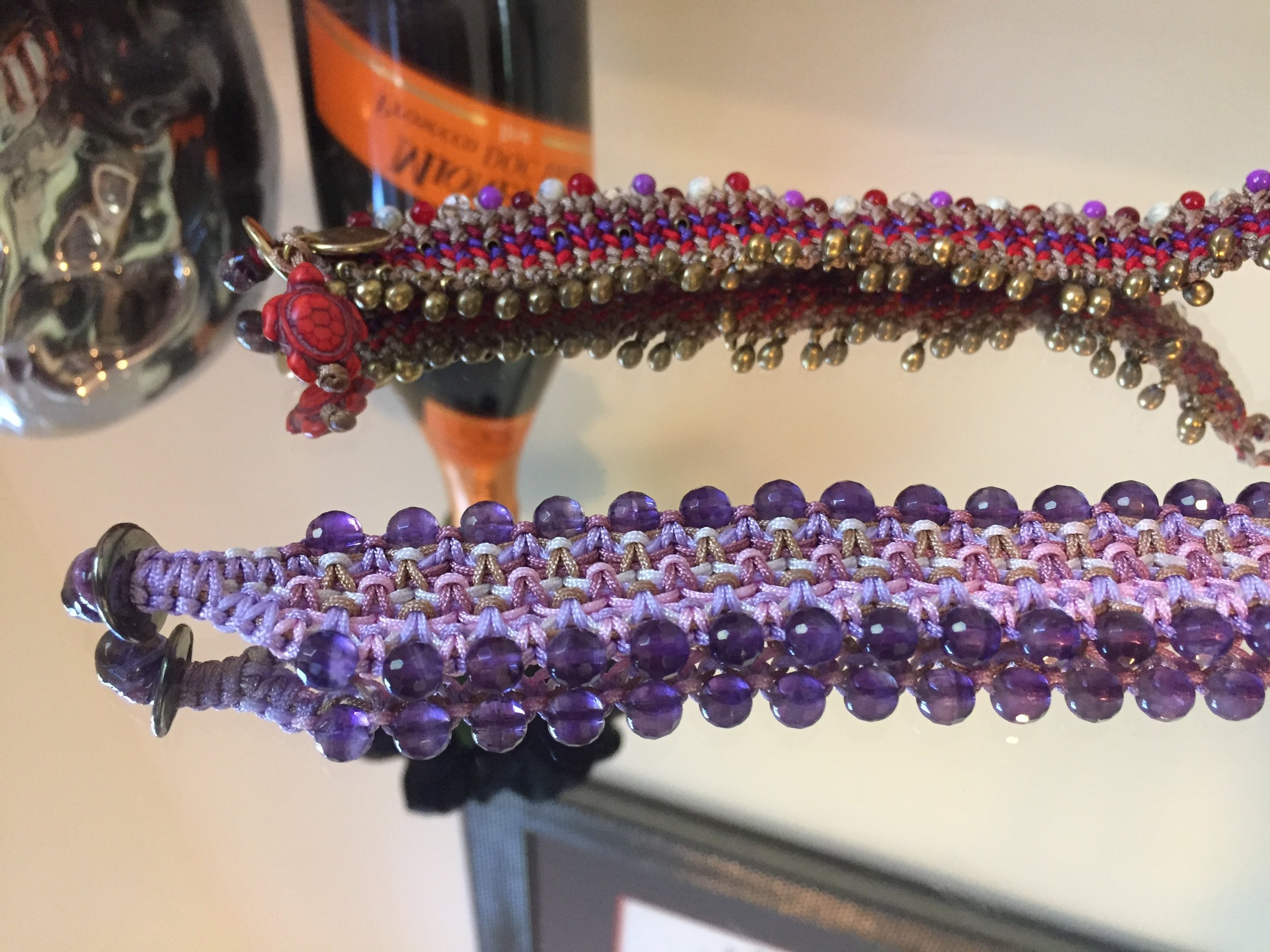 Into color? Into purple as much as me? You are in luck!  Delicate GR Wear