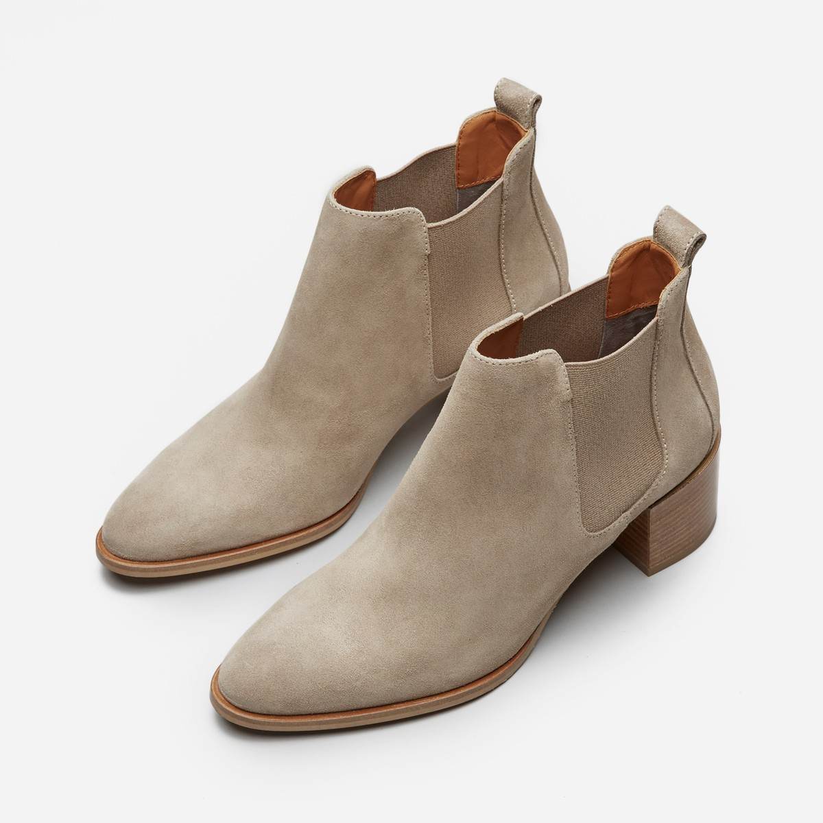 The Suede Heel Boot  by Everlane