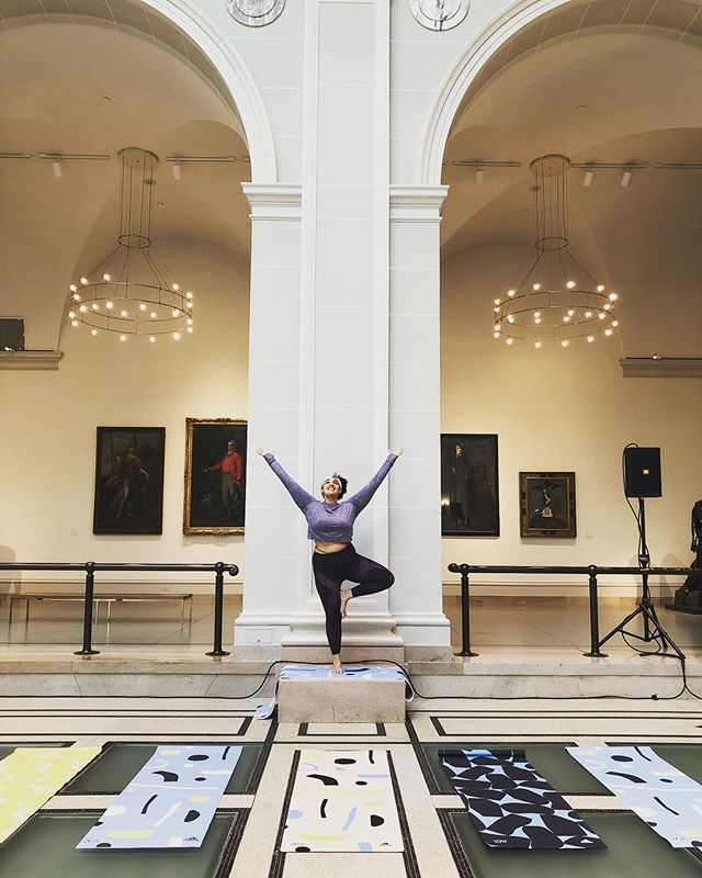So excited to be back at @brooklynmuseum  assisting yoga! Such a gorgeous, grounding, inspiring way to begin the weekend.