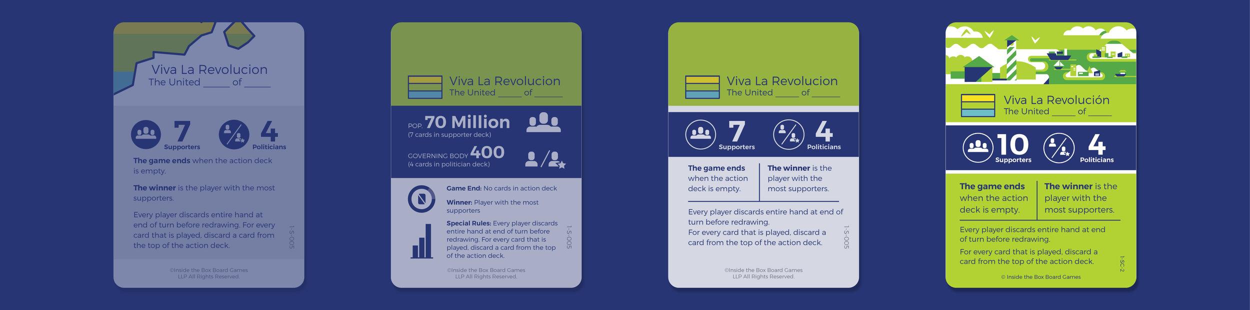 Scenario Card Design Iterations