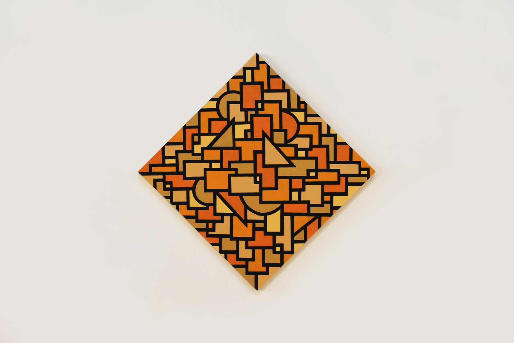 "Untitled, 2015   24""x 24""Enamel on Wood Panel"