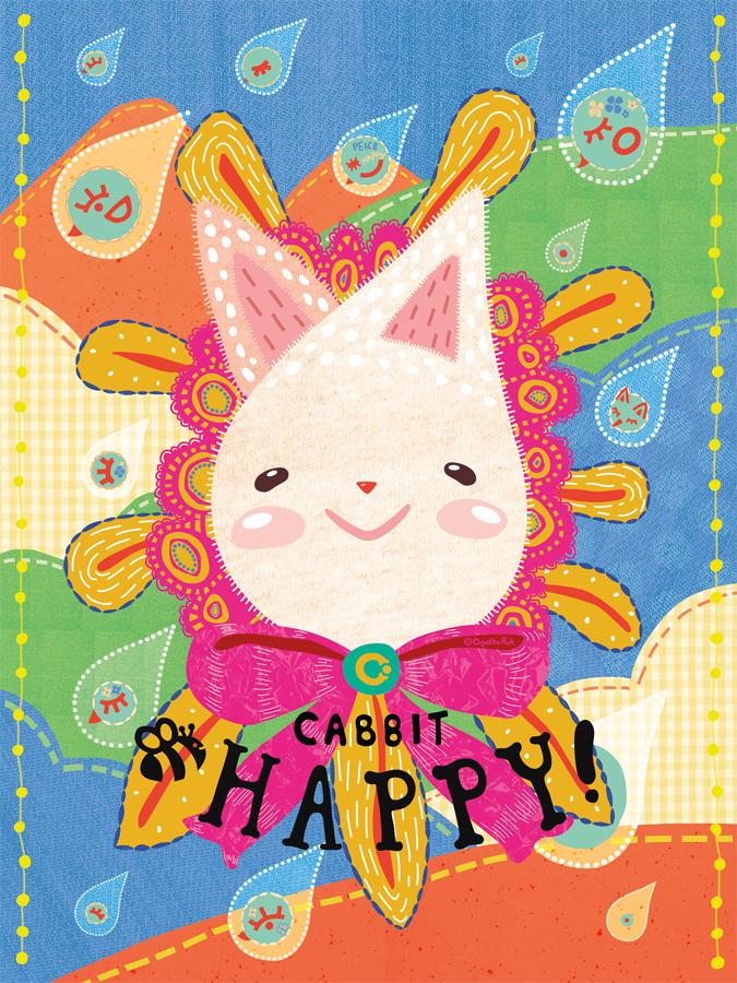 Cabbit Bee Happy! Poster, 2015