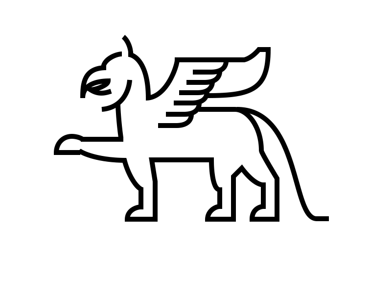 Mascot for Robinson Hall Atlas based on frieze griffins