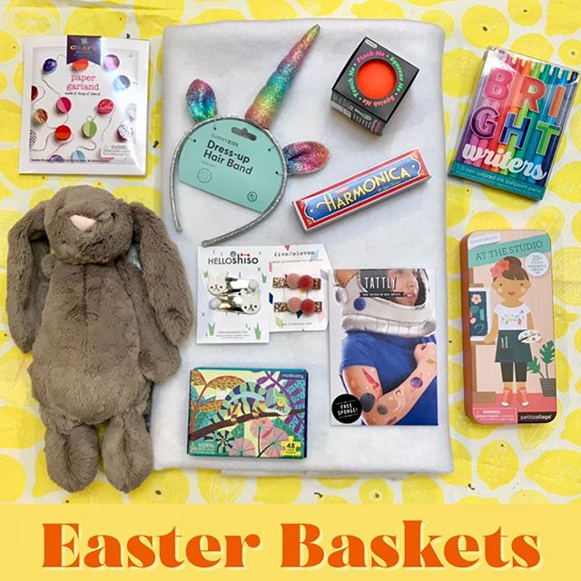 Easter basket gift ideas for the bigger kid who loves hunting for eggs & keeping the tradition alive. We've got plenty of fun gifts to go with your chocolate eggs, from sweet bunny hair clips from local fave @helloshiso to puzzles + more! . . . . #easterbaskets #easter #eastergifts #easterbunny #giftsforkids #kidsgifts #basketfilling #springhassprung #shoplocal #shopsmall #rubysgarden #shopoakland #supportlocalbusiness