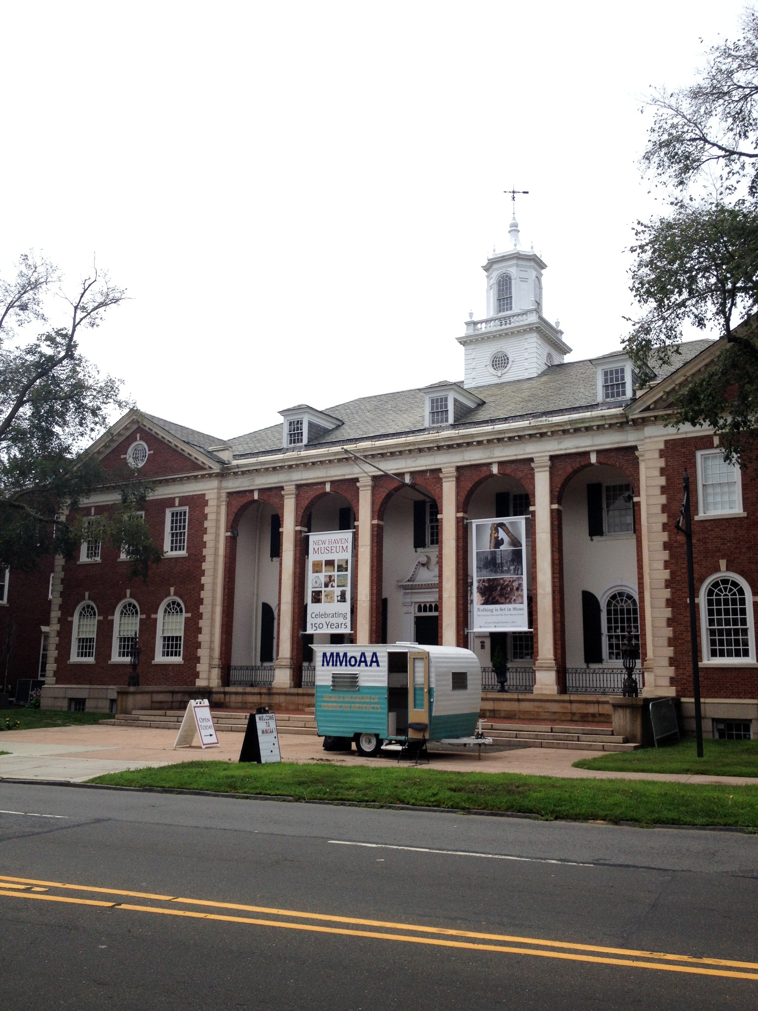 MMoAA lands in front of the New Haven Museum on July 16, 2014.