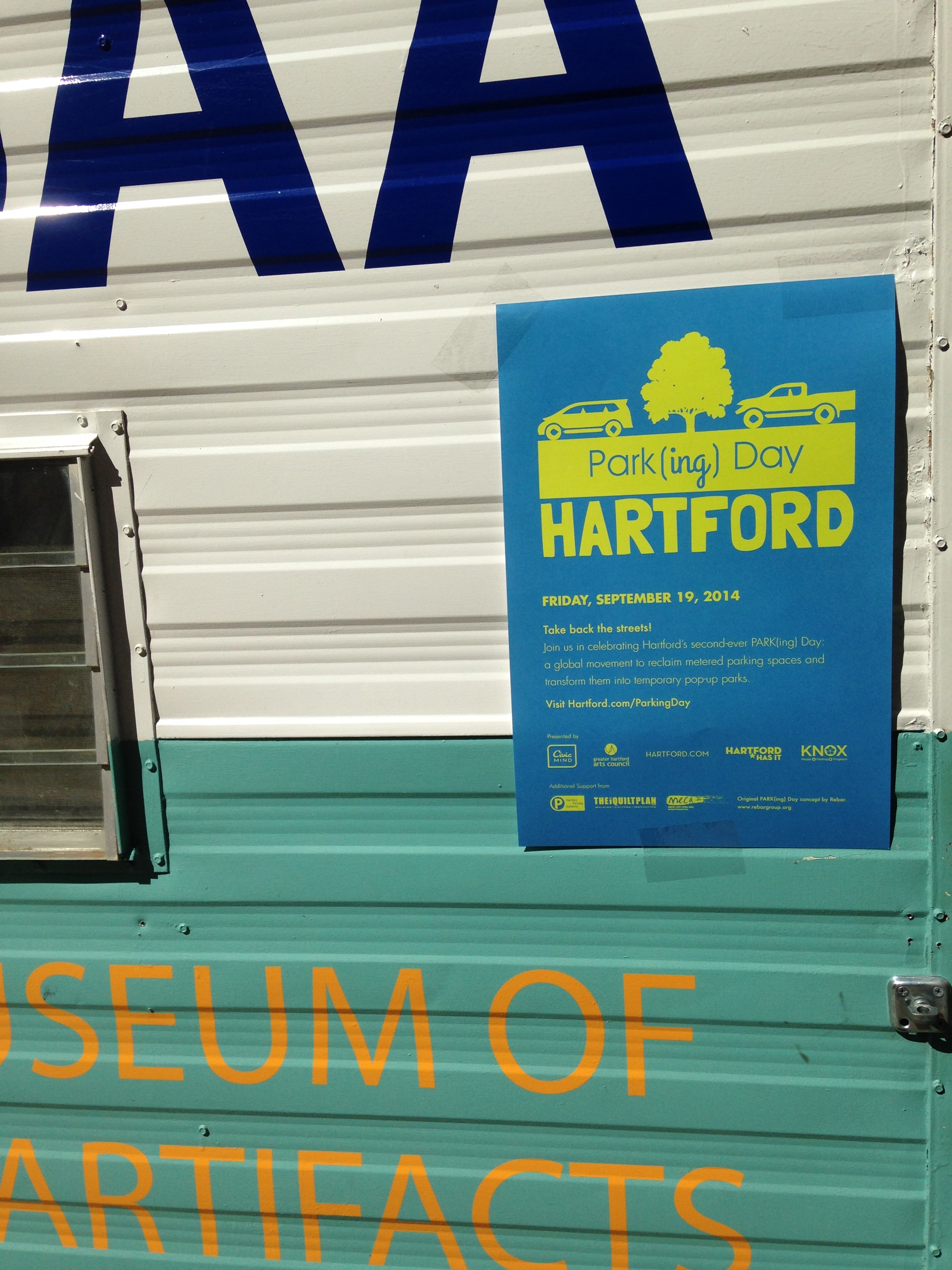 MMoAA takes part in Hartfords Park(ing) Day.