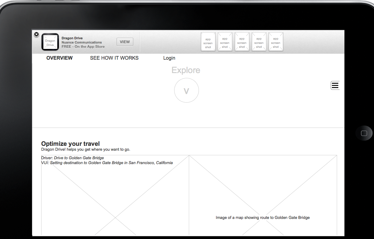 iPad clickable prototype sample