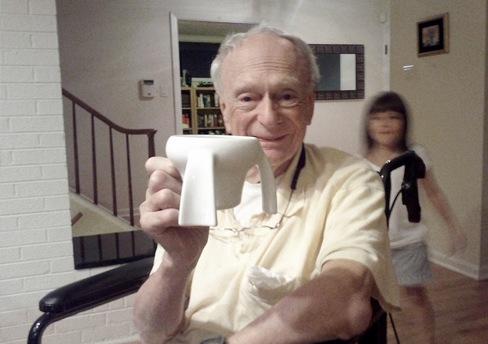 Lily's Grandpa with his Kangaroo Cup