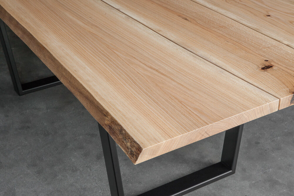 Oak Dining Table Live Edge Furniture By Elko Hardwoods