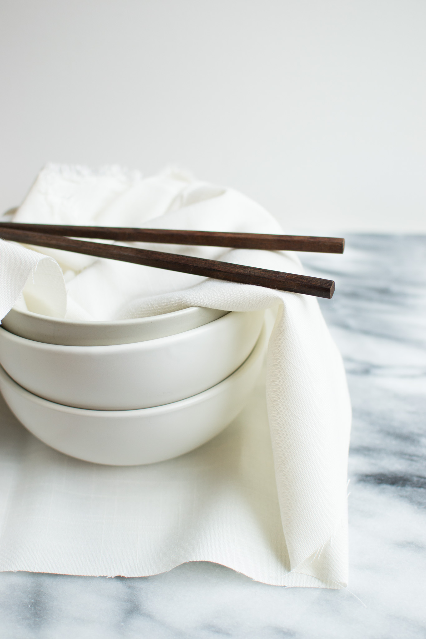 Individual responsibility at a Zen monastery: three bowls, a spoon and a pair of chopsticks wrapped up in a cloth.