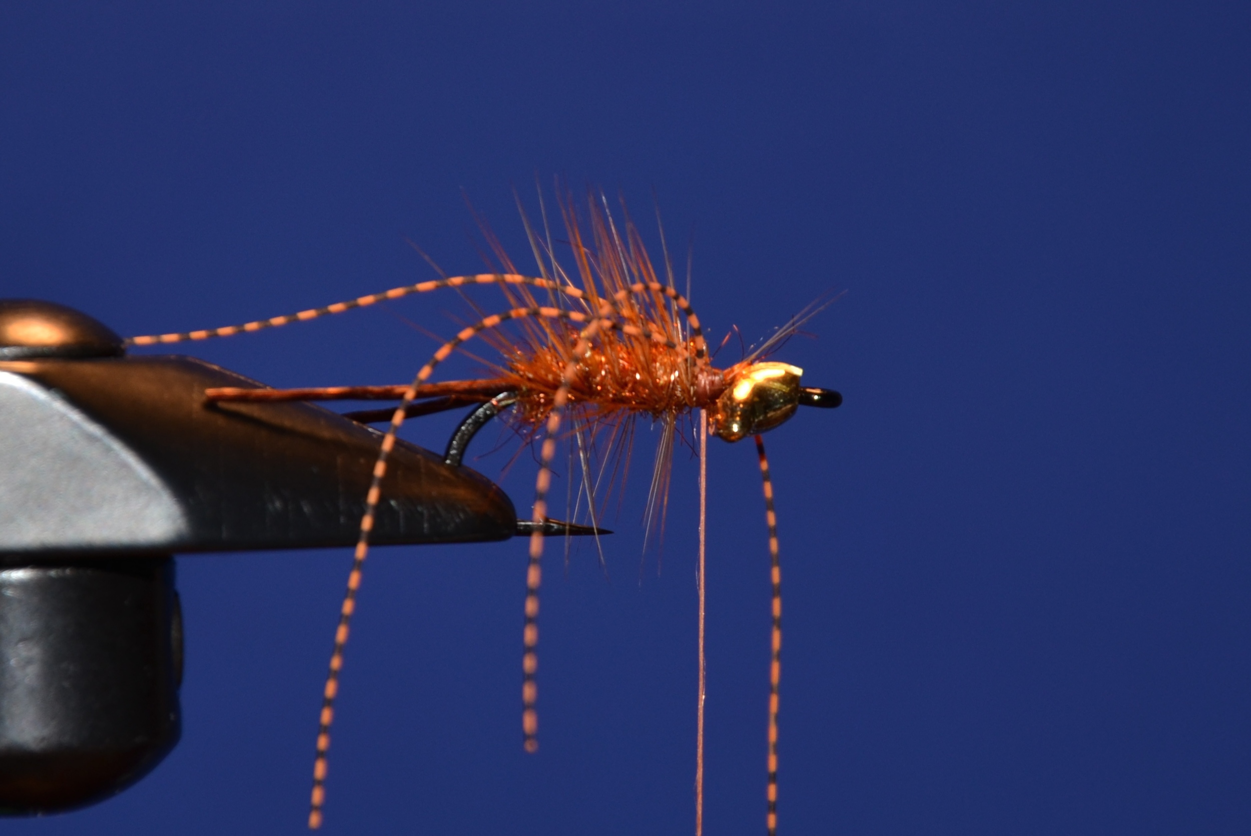 Attach centipede legs to the fly, one on each side and fold over to give you 2 on each side.