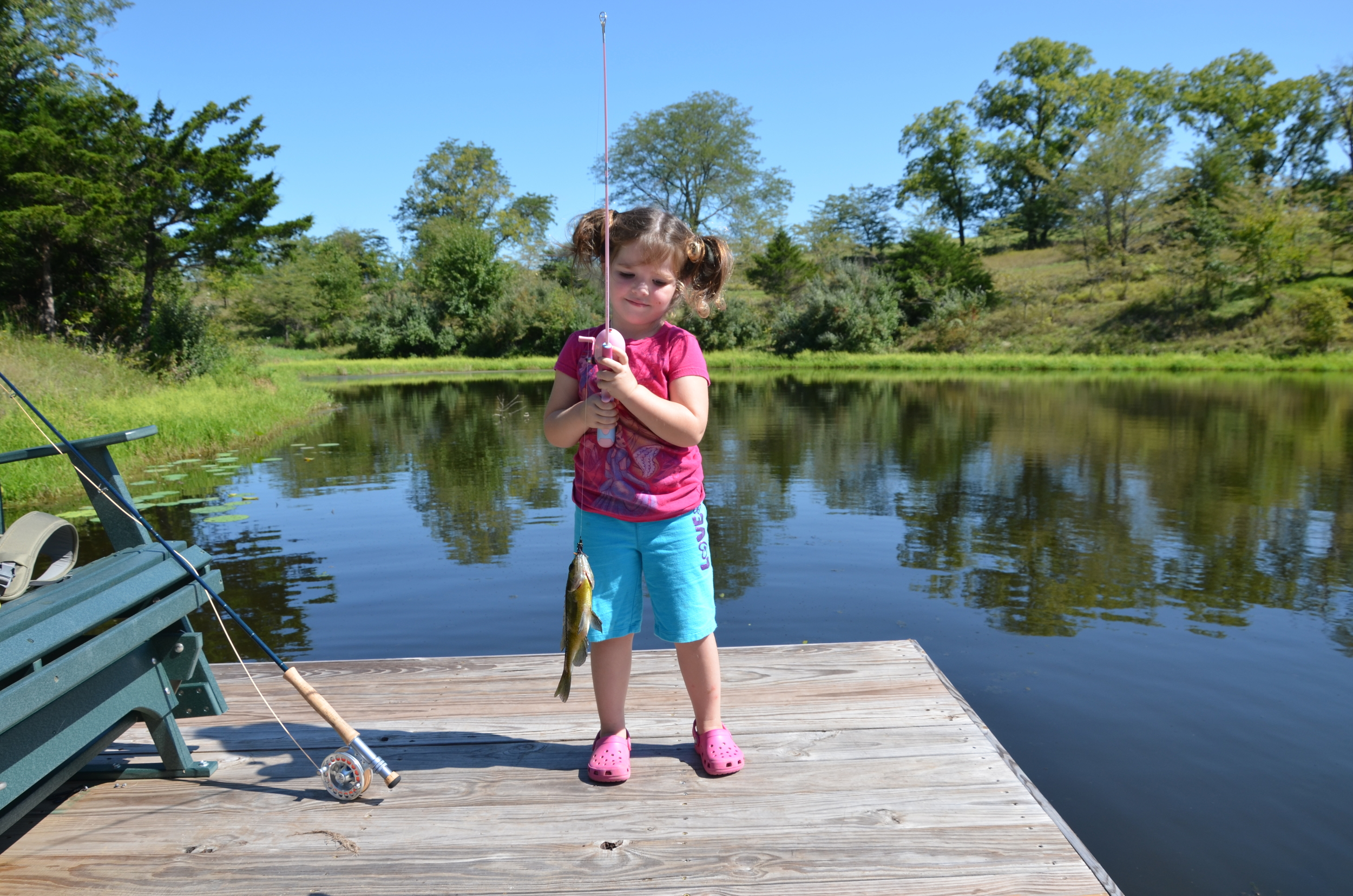 Rylee with her second fish of the day.