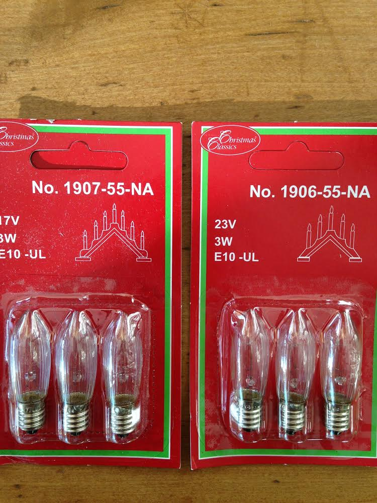Replacement Bulbs for Swedish Lights (Pack of 3 for 5 or 7 lamp) - $3.50