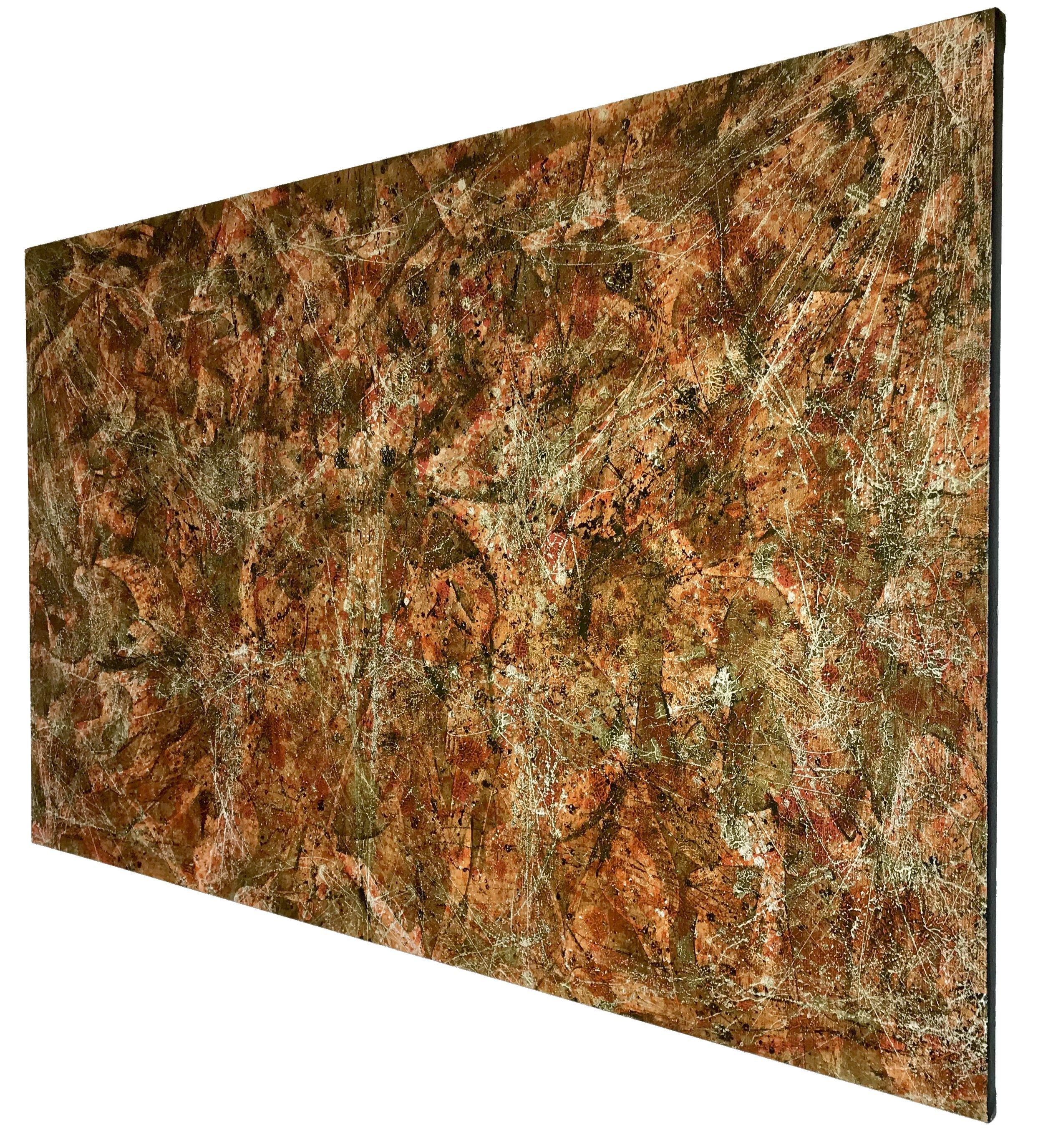 Fall Rorschach - Oil on Cotton Canvas75x180cm