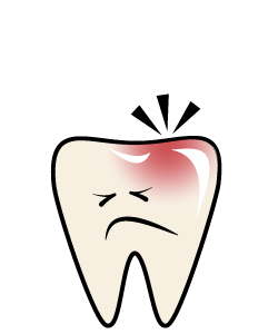 Dental Emergency: Toothache - First Aid for an Aching ToothRinse your mouth with warm water to clean it out.Use dental floss to remove any food that might be trapped between the teeth.Never place Aspirin on the aching tooth or against the gums because it may burn the gum tissue.PAIN NEVER SLEEPS!Call us as soon as possible