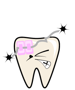 Dental Emergency:Braces & Retainers - First Aid for problems with braces and retainersIf the wire is causing irritation, cover the end with a small cotton ball, beeswax or a piece of gauze until you are able to see you orthodontist.If a wire gets stuck in the cheek, tongue or gum tissue, DO NOT attempt to remove it. Call us or your orthodontist immediately.If an appliance becomes loose or a piece of it breaks of, take the appliance to the orthodontist.