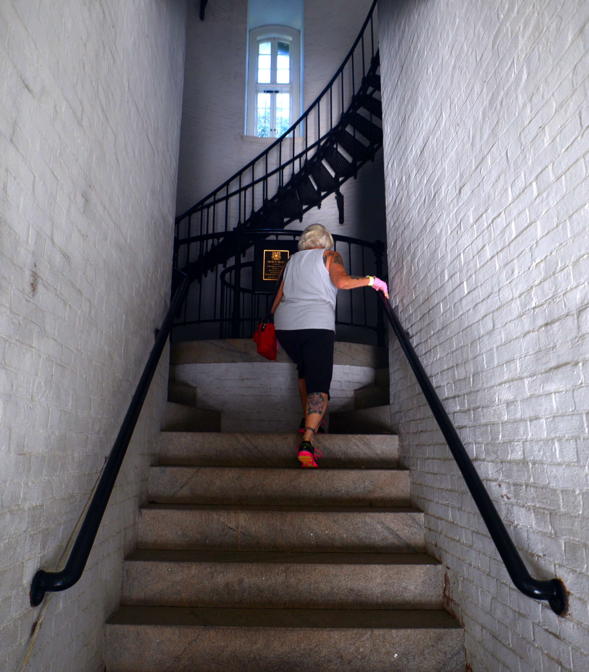 ALEX.SANCHEZ@STAUGUSTINE.COM Nanci Robinson enters the St. Augustine Lighthouse on August 5, 2014