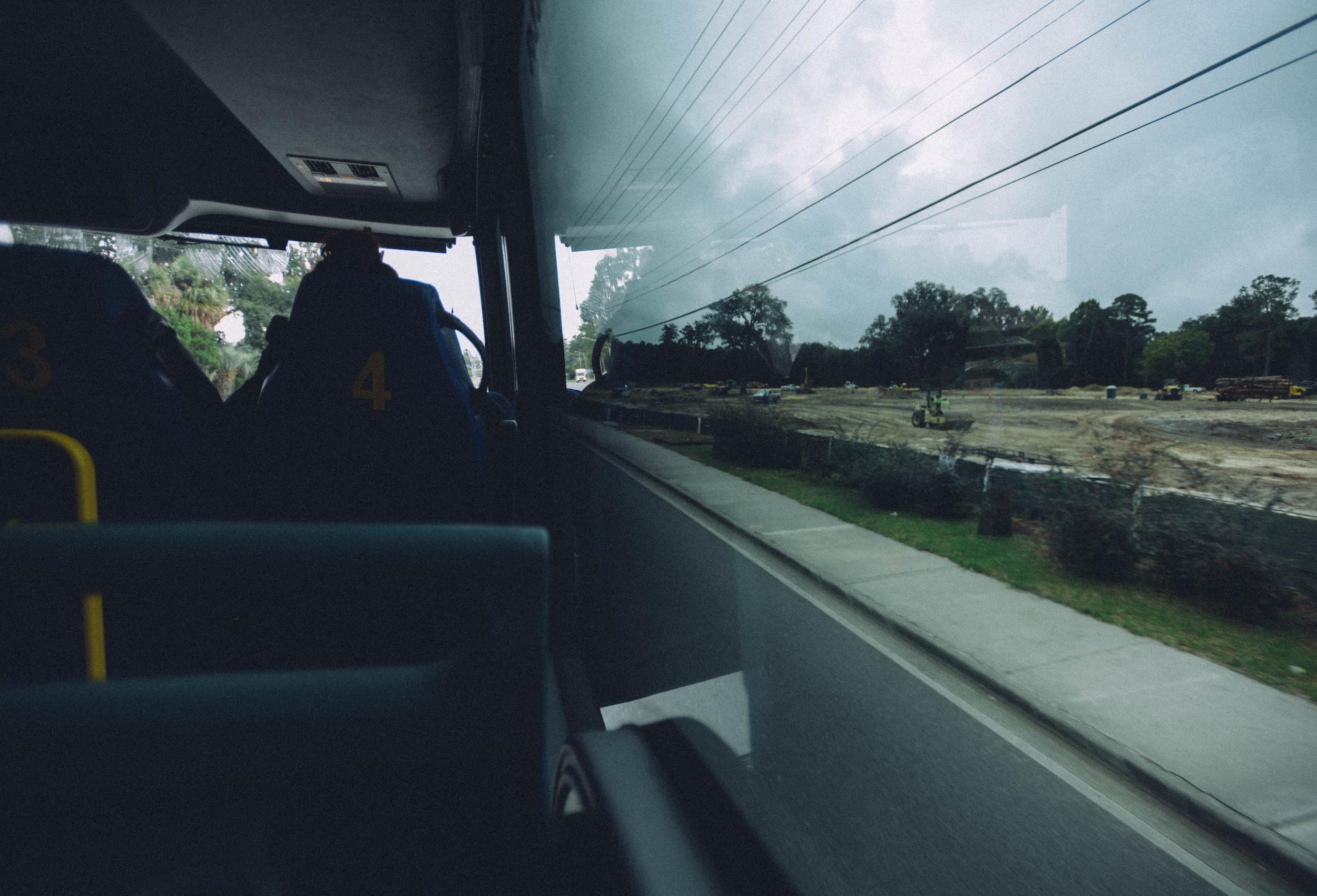 Arriving into Gainesville via Megabus.