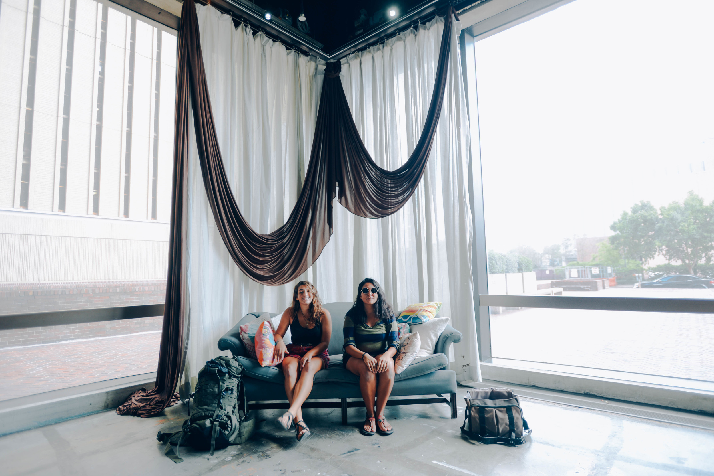 Maya Curtis, left, and Alex M Sanchez , right,pose inside Maya's job for the #WhereIlay series in Baton Rouge.