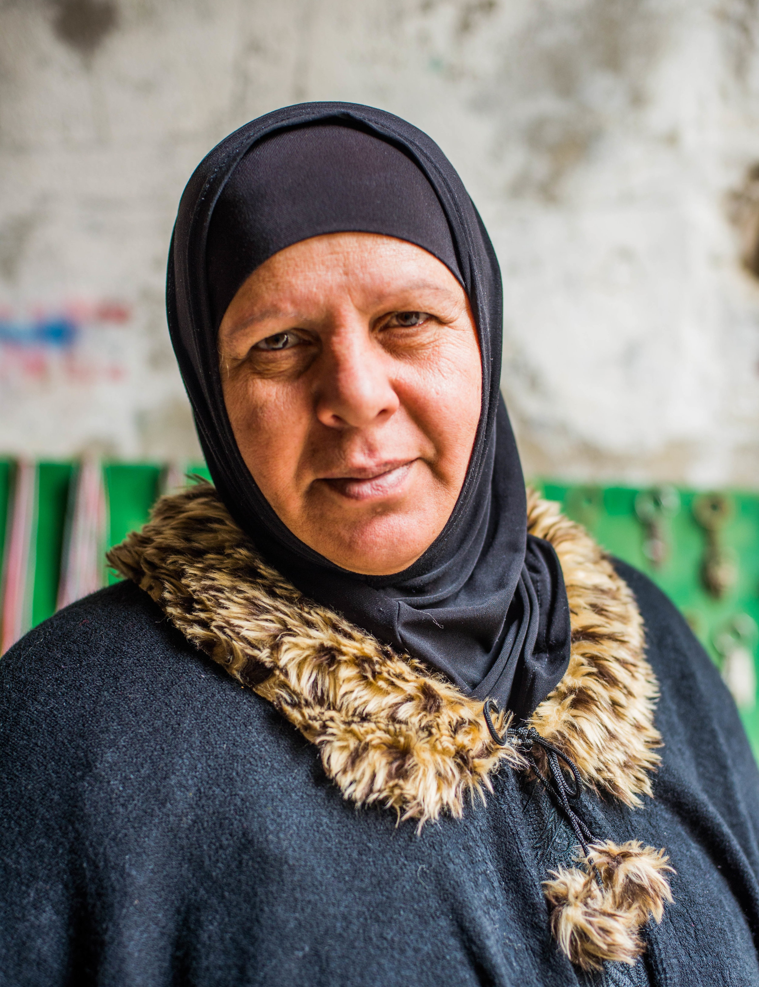 Laila Hasan, mother of 6 children she runs the market in the Old City for the  Women in Hebron  cooperative.