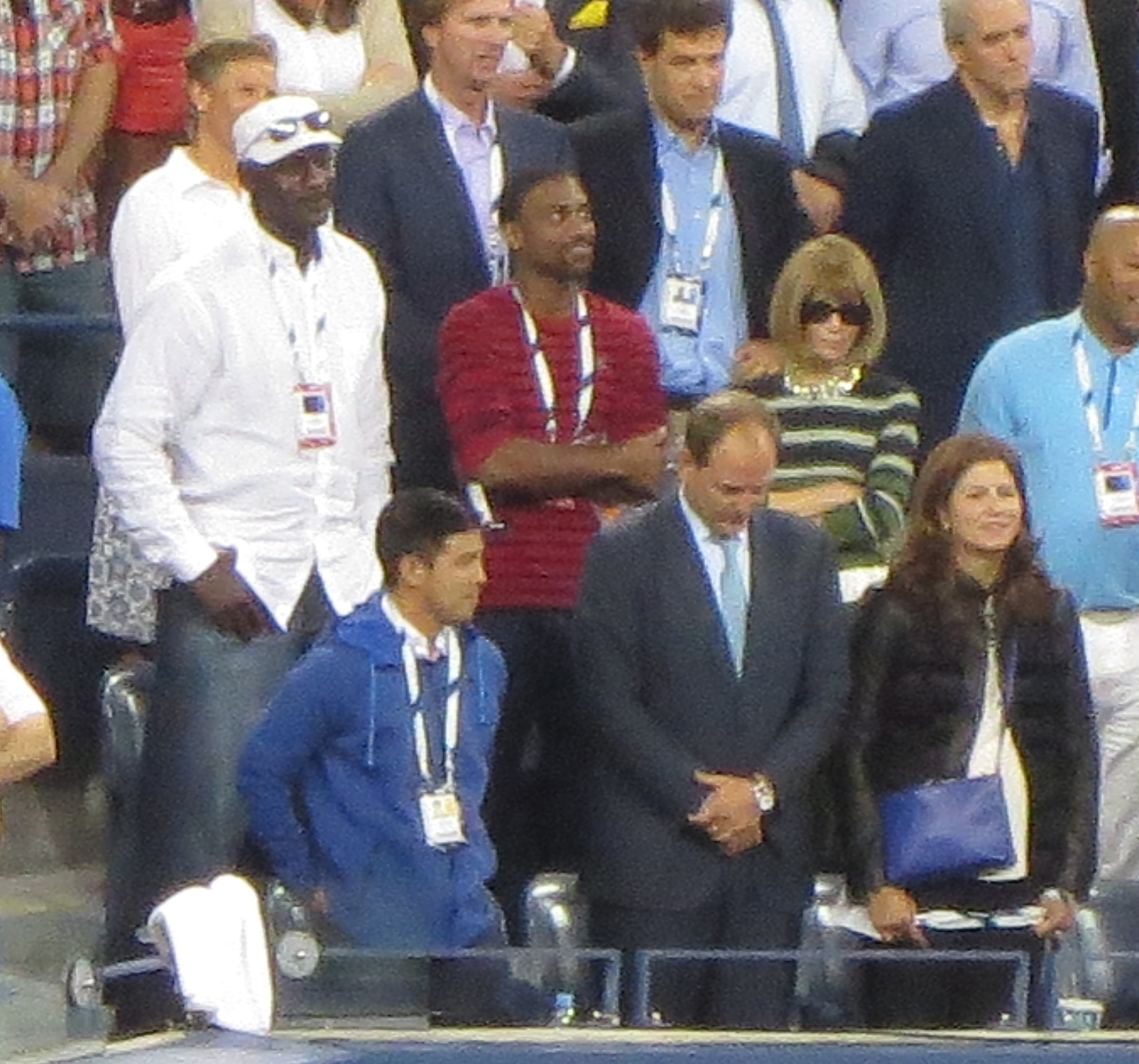 I spy Michael Jordan and Anna Wintour in the house.