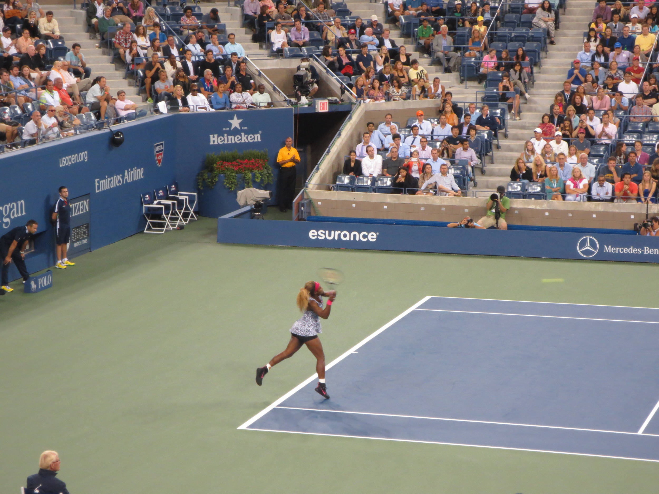 I would not want to be on the receiving end of one of Serena's hits.