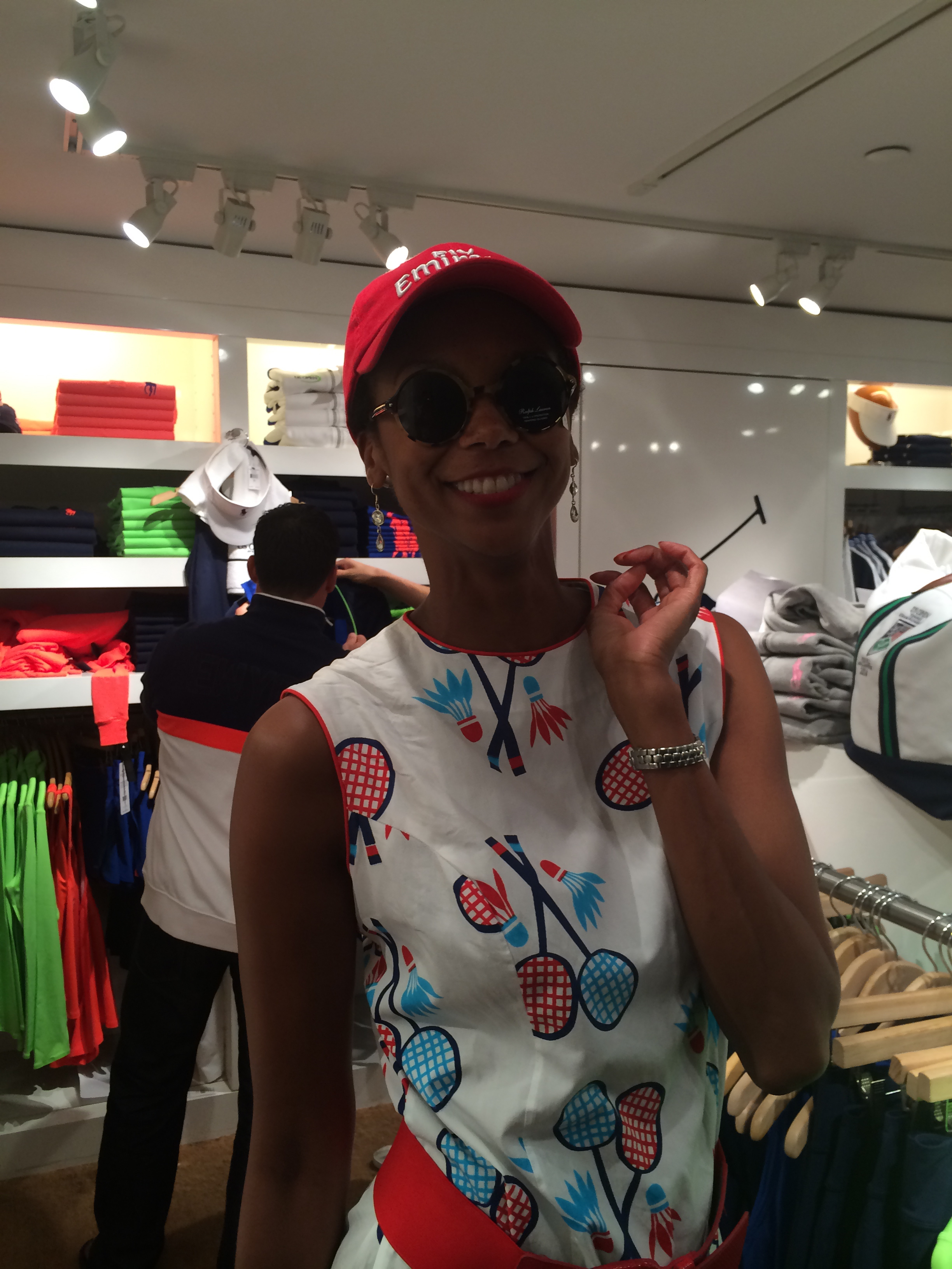 Playtime at the Ralph Lauren Polo store at the stadium.